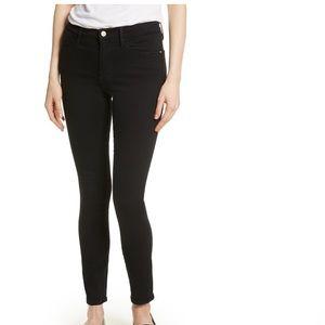 Frame Demin LeHigh Ankle Skinny Jeans In Film Noir